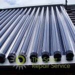 A cleaned evacuated tube solar panel