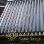 A dirty evacuated tube solar panel