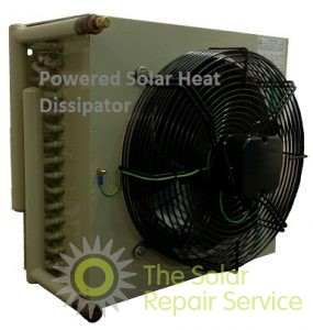 Heat dissipator solar thermal Sunnpro fan-assisted