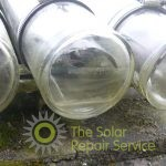Close-up of failed solar tubes