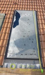 Broken 3m2 Viridian flat solar panel